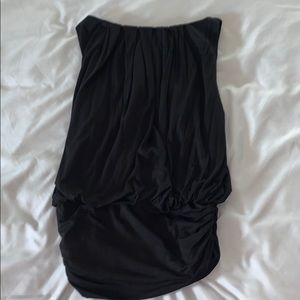 Super flattering black rouched top